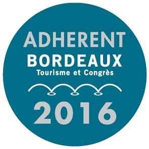Macaron Adhérent Office du Tourisme de Bordeaux